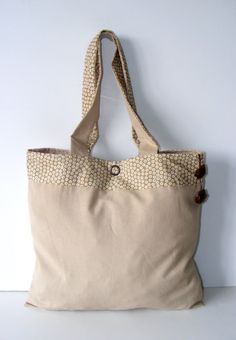 Beige BagEveryday Baggift ideassoft cotton bag and by seno on Etsy, $27.00