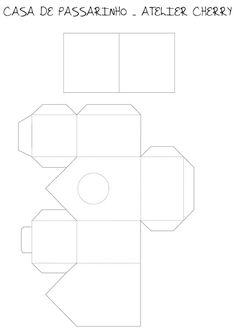 ATELIER CHERRY: Casa de passarinho em papel de scrap