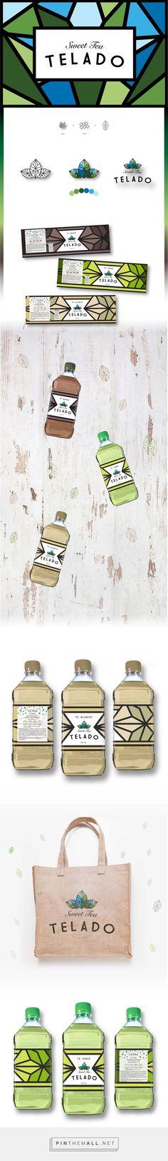 Graphic design, branding and packaging for TELADO on Behance by Celeste Lolato Buenos Aries, Argentina curated by Packaging Diva PD. Diseño de marca para línea de té helado.