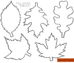 Download and Print this FREE Fall Leaves Printable Template for all your Fall crafting projects.  Print and cut out and trace them on felt, paper, or any other material and cut our your fall leaves.  #FallCrafting #FallLeaves #FreeLeavesTemplate