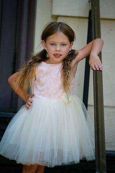 9edfe5ef2fe Toddler Girl Ivory Tulle Dress Party Birthday Flower Girl Pink Fashion Dress   fashion  clothing