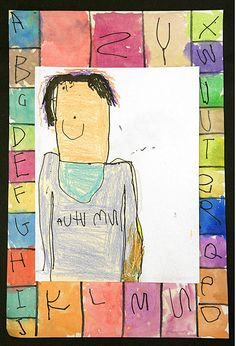 "From the book ""ABC I like Me!"" - Kindergarten Self-Portrait"