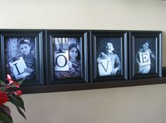 DIY: Photograph Portrait Word Art-Love this idea! The kids could make up three of the photos and me and hubby together in one. Word Art, Diy Gifts, Great Gifts, Diy And Crafts, Arts And Crafts, Foto Fun, Foto Baby, Idee Diy, Photo Displays
