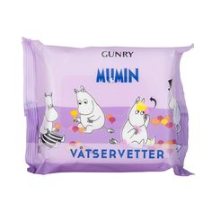 Moomin loves ice-cream, but the strawberry sauce leaves his oh so sticky! Not to worry, a refreshing wet wipe will soon make him fresh and clean again. Free from Alcohol these Moomin hand wipes clean your hands quickly and leave them smelling wonderful. Quantity: 20 Wipes Single wipe size: 20x20cm...
