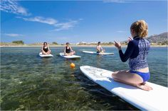 At the Flisvos Sport Club Naxos, we love to bring people together and set up a perfect combination of windsurfing stations and our Flisvos Apartments. Sup Yoga, Sports Clubs, Windsurfing, Surfboard, Greece, Greece Country