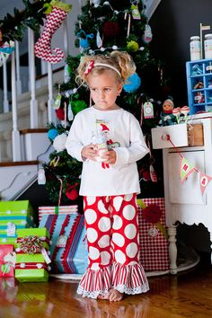 GreatStitch Elf 2 adult 2 Kids Size Christmas Pajamas PJs Family Christmas Picture 2 PAIR. $187.80, via Etsy.