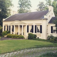 Just noticing the round windows on this Shutze house in Buckhead. And what a great old cobbled driveway.