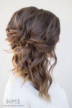 Image result for side swept wedding hair medium