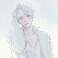 Tbh I really love this artist . Handsome Anime Guys, Cute Anime Guys, Anime Boys, Handsome Boys, Anime Style, Anime Kunst, Manga Boy, Boy Art, Anime Characters