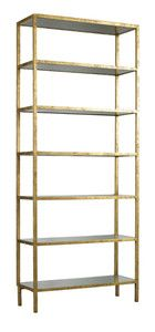 Lillian August Pickford Tower Bookcase in a gold finish