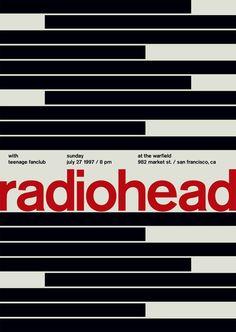 Swissted: Música en pósters tipográficos
