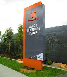 51 Best Ideas For Exterior Signage Large Pylon Signage, Monument Signage, Entrance Signage, Signage Board, Exterior Signage, Outdoor Signage, Wayfinding Signage, Signage Design, School Signage