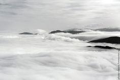 Купить Фотокартина авторская Альпы в тумане черно-белая - серебряный, черно-белая фотография Waves, Outdoor, Outdoors, Outdoor Games, Outdoor Living, Wave