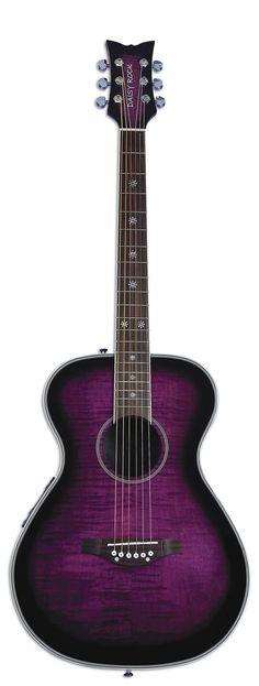 Awesome purple guitar - I really wanna teach myself to play guitar!