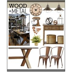 country industrial by rere-renove on Polyvore featuring interior, interiors, interior design, home, home decor, interior decorating, David Jones, Sur La Table, Puji and country