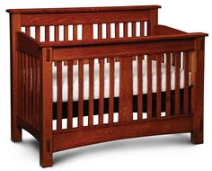McCoy Convertible Crib by Simply Amish available at Modern Bungalow.