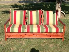Simple Outdoor Sofa   Do It Yourself Home Projects from Ana-White.com