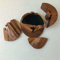 Fun #Wooden Puzzle #Box #Keepsake Gift Secret Compartment.