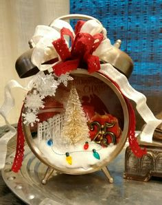 My Christmas clock shadow box project. :)