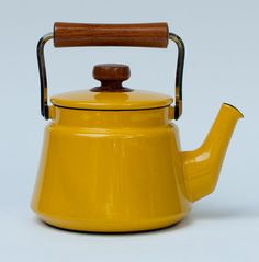 Dansk Teapot  Kobenstyle Collection  enamelware Yellow by 27thAVE