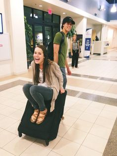 'Going traveling with this guy. I'm light enough that I can be on his suitcase and he can still drag it' Mer