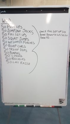 Workout of the day Do 50 of each exercise then go to 40,30,20,10 and 0. It's a gruelling workout, give it a try