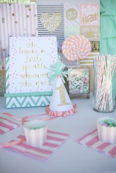 A Sweet Pink Theme For Your Little Girl's First Birthday