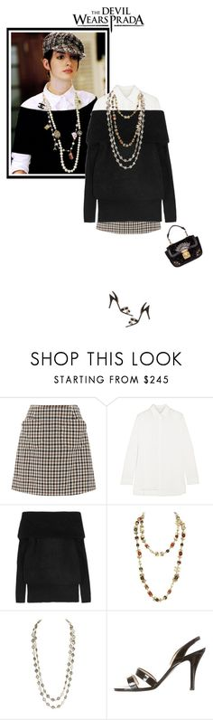 """""""The Devil Wears Prada"""" by mariots22 ❤ liked on Polyvore featuring Prada, Isa Arfen, The Row, Acne Studios, Chanel, Louis Vuitton and vintage"""