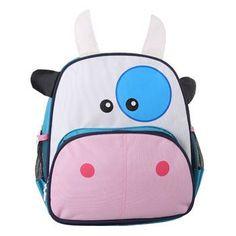 Children School Bag Cartoon Animal Canvas Backpack Baby Toddler Kids Leather Shoulder Kindergarten Schoolbag PT0019