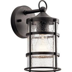 Buy the Kichler Anvil Iron Direct. Shop for the Kichler Anvil Iron Mill Lane Single Light Tall Outdoor Wall Sconce and save. Modern Outdoor Wall Lighting, Outdoor Wall Lantern, Outdoor Wall Sconce, Outdoor Walls, Outdoor Decor, Classic Lanterns, Fan Light Kits, Glass Material, One Light