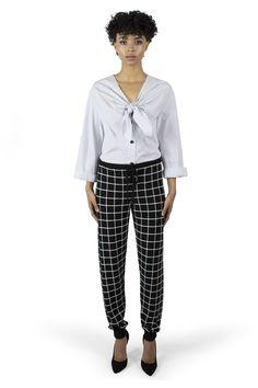 Chinti + Parker meets Patternity Black & White Cashmere Leggings