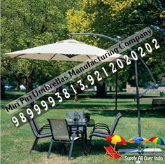 Side Pole Garden Umbrella - Side Pole Garden Umbrellas Manufacturers, Suppliers, Service Providers, Dealers, Contractors in Delhi, India