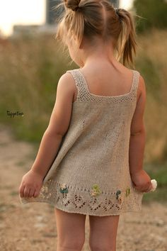 Summer knitted linen dress