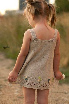 Summer knitted linen dress