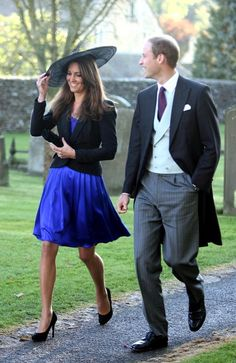 Prince William and Kate Middleton at a Friend's Wedding - #William #Kate