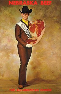 Vintage postcard - 1968's Miss Nebraska Stock Grower, Ann Coffee