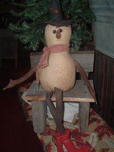 burlap snowman..