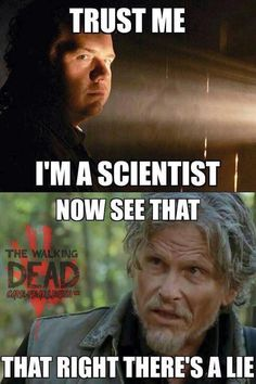 Eugene Porter as played by Josh McDermitt and Joe as played by Jeff Kober | The Walking Dead