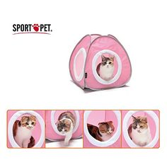 Sport Pet Design-New 2 Color Tent Cat Kitty Combination Play Toys 0043-04 >>> Trust me, this is great! Click the image. : Cat condo