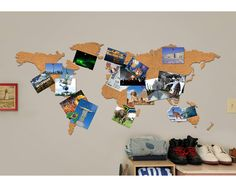 CORK MAP | Bulletin Board Map, Travel Vision Board | UncommonGoods Cool way to remember your travels