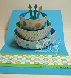 pop-up birthday card tutorial!  fun for a special card!