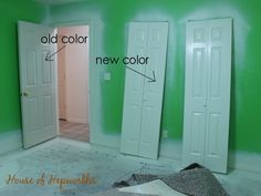 Painting baseboards and doors