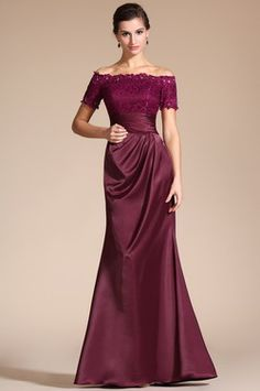 2014 New Stylish Short Sleeves Beadings Mother of the Bride Dress (C26132317)