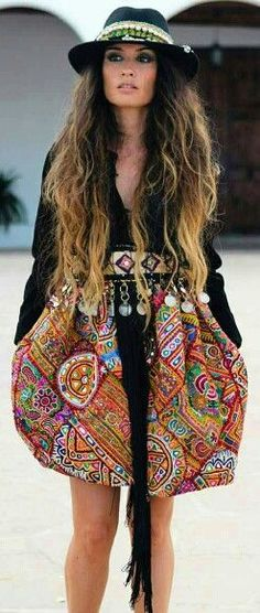 boho, embellished, chic.
