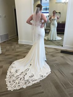We are obsessed with this gown! Classic Wedding Dress, Wedding Dresses, Wear Store, Bridal And Formal, Formal Wear, Tuxedo, Special Occasion, Satin, Bridesmaid