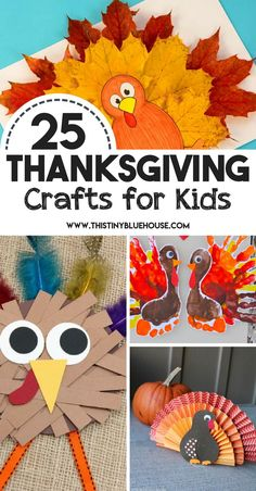 25 Best Thanksgiving Crafts For Kids - This Tiny Blue House Kids love to get crafty and get creative by creating little projects with their hands. Here are 25 Best Thanksgiving Crafts for kids that are sure to keep your kiddos busy for hours! Kindergarten Thanksgiving Crafts, Thanksgiving Crafts For Kids, Thanksgiving Activities, Holiday Crafts, Thanksgiving Decorations, Thanksgiving Cookies, Toddler Thanksgiving Crafts, Diy Christmas, Christmas Tables
