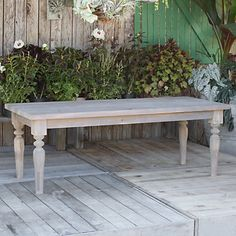 Turned Leg Dining Table in House+Home HOME DÉCOR Furniture Tables at Terrain