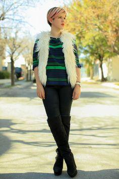 Spring 2014 White Trend - Mexican Fashion Blog Nancy Nannuck #stripes #leatherjeans #fashionblog
