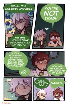 Comic komahina 2 v: Danganronpa Funny, Super Danganronpa, Danganronpa Characters, Nagito Komaeda, Pokemon, Hinata, My Hero, Fandoms, Fan Art