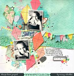 Hip Kit Club DT Project - 2017 August Hip Kits; Crate Paper Carousel by Maggie Holmes; Shimmerz Paints; Hip Kit exclusives